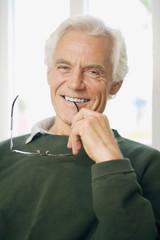Älterer Mann, Lächeln, Portrait