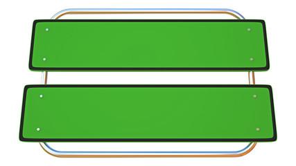 green boards in steel pipe