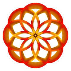 colored, geometrical form - church window