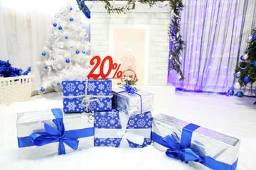 Новогодние подарки и скидка 20 процентов