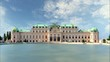 Belvedere Palace in Vienna - Austria, Time lapse
