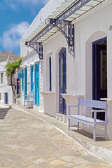 Traditional greek architecture on Cyclades islands, Greece