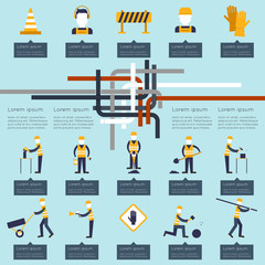 Road worker infographic