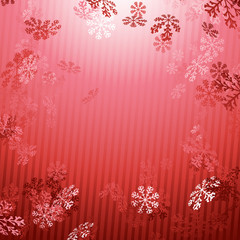 Red Christmas New year snow fall background