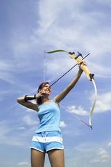 Weiblicher Bogenschütze