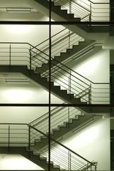 Deutschland, München, Brogebude, Treppenhaus,Bürogebäude