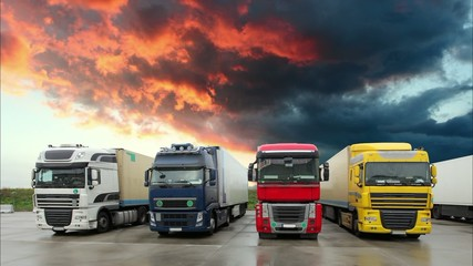 Truck - Freight transportation, Time lapse