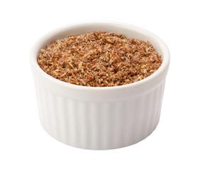 Flax Seed Meal in Ramekin