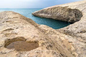 Sardegna, Cuglieri (Or), insenatura rocciosa di s'Archittu