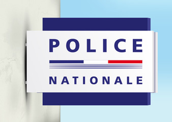 Police Nationale - Panneau