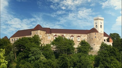 Ljubljana castle, slovenia, Time lapse