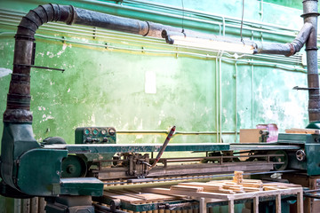 Industrial tools in local wood and furniture factory