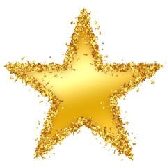 Stern, goldener Stern, Weihnachsstern, Rand, Gold, golden Star