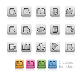 Book Icons -- Outline Buttons