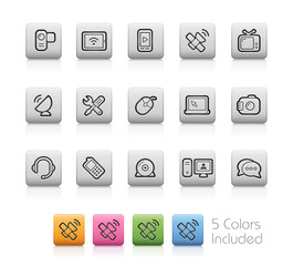Communication Icons -- Outline Buttons