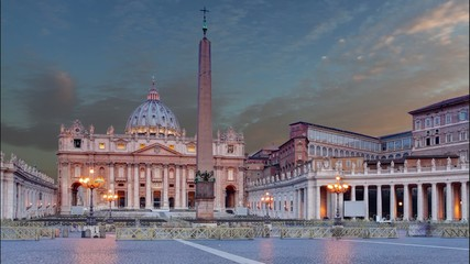 Vatican - Saint Peter's square in Rome, Time lapse