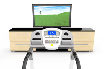 Treadmill Machins with TV