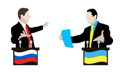 The debate between Ukrainian and Russian speakers