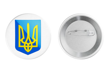 Badges with Ukraine Coat of arms