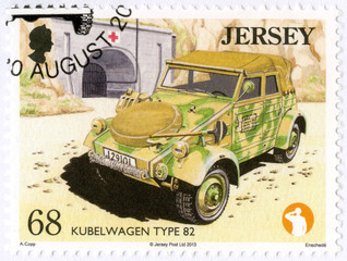 JERSEY -2013: shows Kubelwagen Type 82, series Military Vehicles