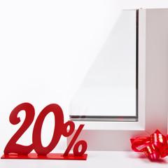 Оконный профиль и скидка 20 процентов