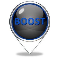Boost pointer icon on white background
