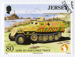 JERSEY - 2013: shows SD KFZ 251 - Ausf C Half Track