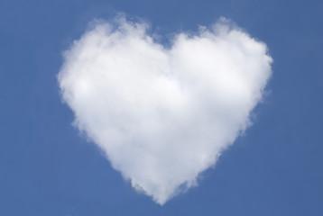 Wolkenherz Wolke in Herzform Herz