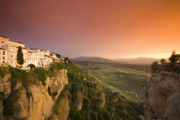 Spanien, Andalusien, Ronda mit Nachleuchtfunktion