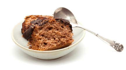 chocolate cake bar on a plate