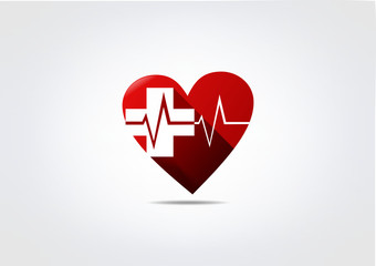 Blood Donors Logo Care busines Icon Heart Symbol Medic