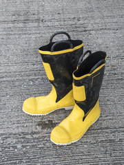 fireman foot gear  after used