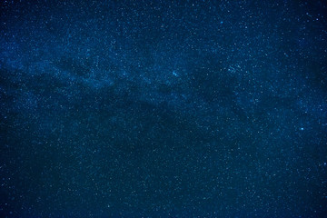 Blue dark night sky with many stars