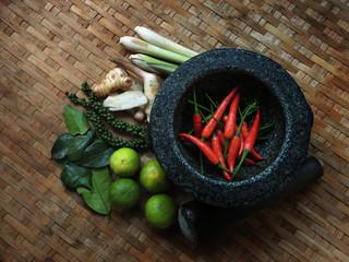Thai Food : Seasoning ingredients of Tom-Yum