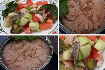 Thon et Anchois - Salade de Crudités