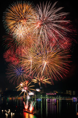 Fireworks new year 2014 - 2015 celebration