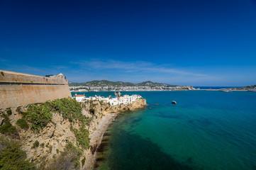 Ibiza castle wall