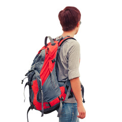 Female with backpack