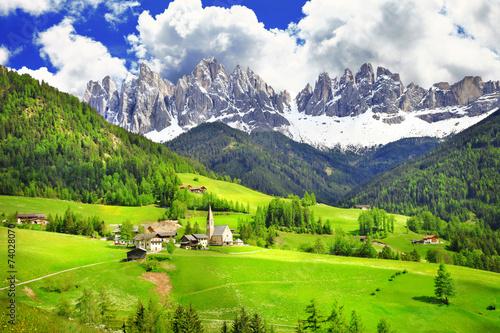 Dolomites - wonderland in Alps - 74028070