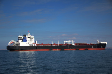 large tanker on the high seas