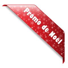 """Ruban """"PROMO DE NOEL"""" (joyeuses fêtes promos meilleurs voeux)"""