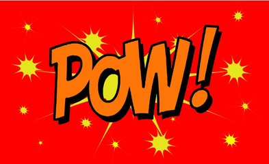 POW Comic book explosion sound effect, Comic Speech Bubble