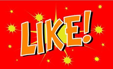 LIKE Comic book explosion sound effect, Comic Speech Bubble
