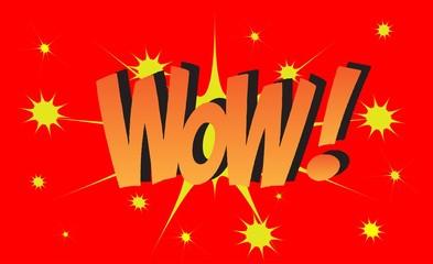 WOW Comic book explosion sound effect, Comic Speech Bubble
