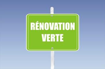 panneau rénovation verte