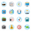 Flat Icons For Business Icons and Finance Icons