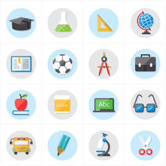 Flat Icons For Education Icons and School Icons