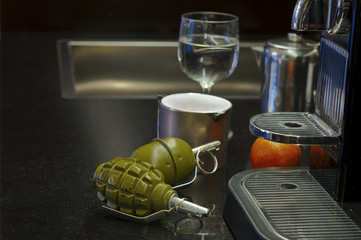 Grenades on a Table