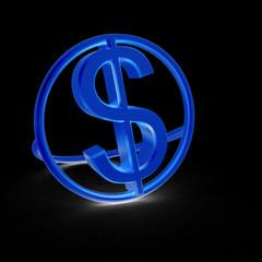 3d text dollar icon