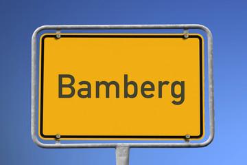 Ortsschild Bamberg
